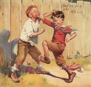 enfants bagarre