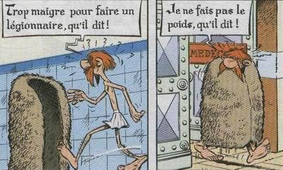 """Asterix """"je ne fais pas le poids, qu'il dit!"""""""
